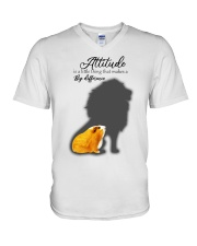 Attitude is a little thing making a big difference V-Neck T-Shirt thumbnail