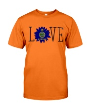 Love sunflower Kansas flag 0037 Classic T-Shirt front