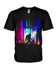 Bigfoot Forest UFO V-Neck T-Shirt thumbnail