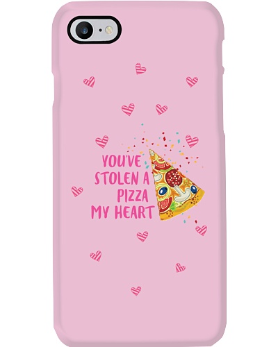 You've Stolen A Pizza My Heart - Girl Phone Case