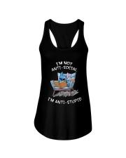 Stitch I'm Not Antisocial I'm Anti Stupid Shirt Ladies Flowy Tank thumbnail