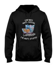Stitch I'm Not Antisocial I'm Anti Stupid Shirt Hooded Sweatshirt thumbnail