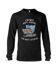 Stitch I'm Not Antisocial I'm Anti Stupid Shirt Long Sleeve Tee thumbnail