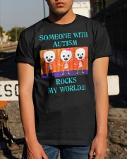 Someone With Autism Rocks My World Shirt Classic T-Shirt apparel-classic-tshirt-lifestyle-29