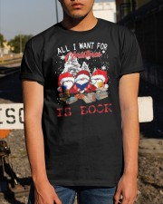 Santa Gnome All I Want For Christmas Is Book Classic T-Shirt apparel-classic-tshirt-lifestyle-29