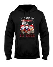Santa Gnome All I Want For Christmas Is Book Hooded Sweatshirt thumbnail
