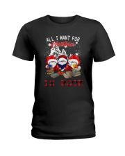 Santa Gnome All I Want For Christmas Is Book Ladies T-Shirt thumbnail