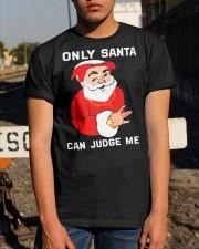 Christmas Only Santa Can Judge Me Shirt Classic T-Shirt apparel-classic-tshirt-lifestyle-29