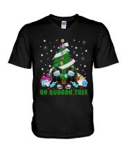 Daschund Oh Quaran Tree Shirt V-Neck T-Shirt thumbnail