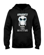 Owl Apparently I Have An Attitude Shirt Hooded Sweatshirt thumbnail