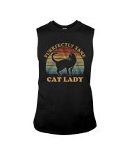 Vintage Cat Lady Purfectly Sane Shirt Sleeveless Tee thumbnail