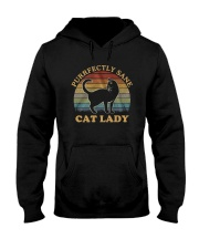 Vintage Cat Lady Purfectly Sane Shirt Hooded Sweatshirt thumbnail