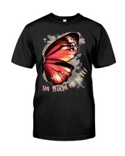 Butterfly Wing She Taught Me To Fly Shirt Premium Fit Mens Tee thumbnail