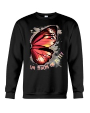 Butterfly Wing She Taught Me To Fly Shirt Crewneck Sweatshirt thumbnail