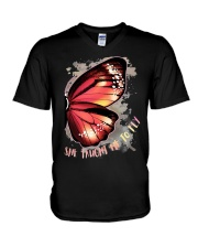 Butterfly Wing She Taught Me To Fly Shirt V-Neck T-Shirt thumbnail