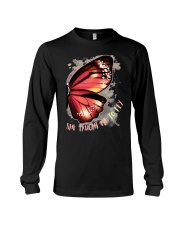 Butterfly Wing She Taught Me To Fly Shirt Long Sleeve Tee thumbnail