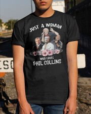 Just A Woman Who Loves Phil Collins Shirt Classic T-Shirt apparel-classic-tshirt-lifestyle-29