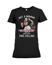 Just A Woman Who Loves Phil Collins Shirt Premium Fit Ladies Tee thumbnail