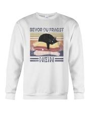 Vintage Cat Bevor Du Fragst Nein Shirt Crewneck Sweatshirt thumbnail