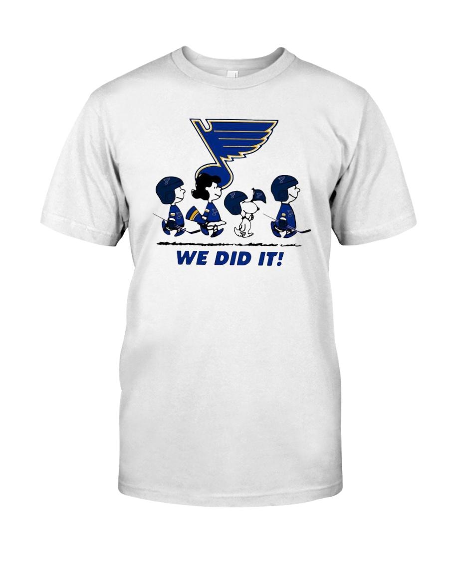 Peanuts St Louis Blues We Did It Shirt Classic T-Shirt
