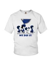 Peanuts St Louis Blues We Did It Shirt Youth T-Shirt thumbnail