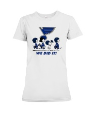 Peanuts St Louis Blues We Did It Shirt Premium Fit Ladies Tee thumbnail