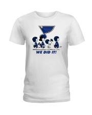 Peanuts St Louis Blues We Did It Shirt Ladies T-Shirt thumbnail
