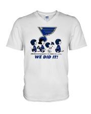 Peanuts St Louis Blues We Did It Shirt V-Neck T-Shirt thumbnail