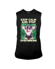 Chihuahua Keep Calm And Stop Overthinking Shirt Sleeveless Tee thumbnail