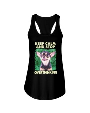 Chihuahua Keep Calm And Stop Overthinking Shirt Ladies Flowy Tank thumbnail