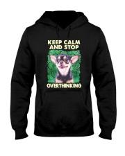 Chihuahua Keep Calm And Stop Overthinking Shirt Hooded Sweatshirt thumbnail