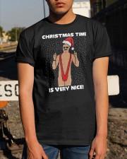 Borat Christmas Time Is Very Nice Shirt Classic T-Shirt apparel-classic-tshirt-lifestyle-29