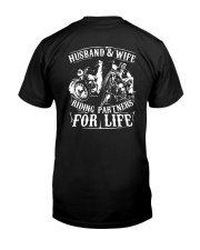 Husband And Wife Riding Partners For Life Shirt Classic T-Shirt back