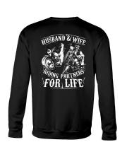 Husband And Wife Riding Partners For Life Shirt Crewneck Sweatshirt thumbnail