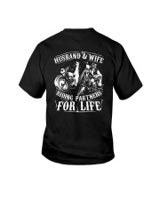 Husband And Wife Riding Partners For Life Shirt Youth T-Shirt thumbnail