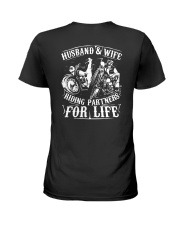 Husband And Wife Riding Partners For Life Shirt Ladies T-Shirt thumbnail