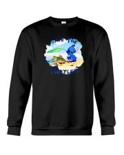 Stitch Save The Turtles Shirt Crewneck Sweatshirt thumbnail