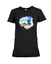 Stitch Save The Turtles Shirt Premium Fit Ladies Tee thumbnail