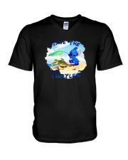 Stitch Save The Turtles Shirt V-Neck T-Shirt thumbnail