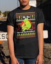 Ugly Christmas Hi Ho Kermit The Frog Here Shirt Classic T-Shirt apparel-classic-tshirt-lifestyle-29