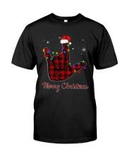 Hand Merry Christmas Shirt Classic T-Shirt front