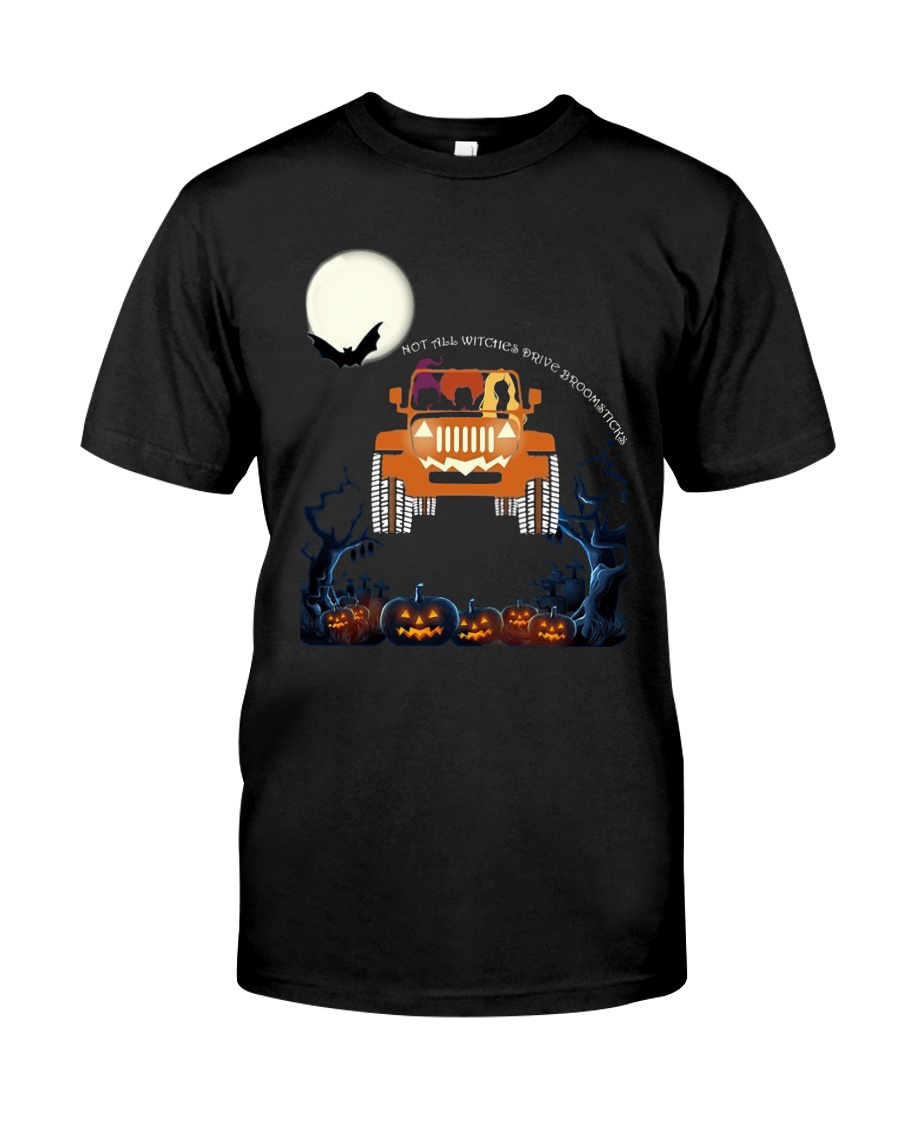 Halloween Not All Witches Drive Broomsticks Shirt Classic T-Shirt