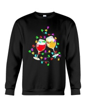 Wines Merry Christmas Light Shirt Crewneck Sweatshirt thumbnail
