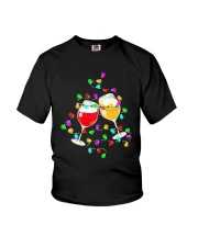 Wines Merry Christmas Light Shirt Youth T-Shirt thumbnail