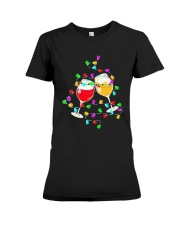 Wines Merry Christmas Light Shirt Premium Fit Ladies Tee thumbnail