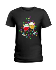 Wines Merry Christmas Light Shirt Ladies T-Shirt thumbnail