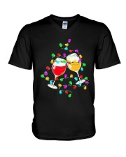 Wines Merry Christmas Light Shirt V-Neck T-Shirt thumbnail