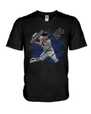 New York Elite Gray Sanchez Shirt V-Neck T-Shirt thumbnail