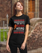 Christmas Gingerbread Tis But A Flesh Wound Shirt Classic T-Shirt apparel-classic-tshirt-lifestyle-06