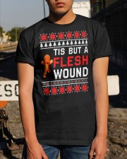 Christmas Gingerbread Tis But A Flesh Wound Shirt Classic T-Shirt apparel-classic-tshirt-lifestyle-29